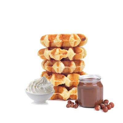 Gaufre de Liège Nutella Crème fouetté